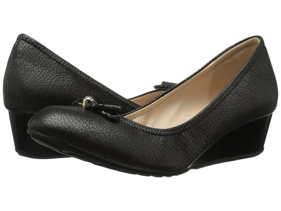 Cole Haan - Tali Grand Lace Wedge 40 (Silver/Gunmetal Metallic) Women's Slip on Shoes