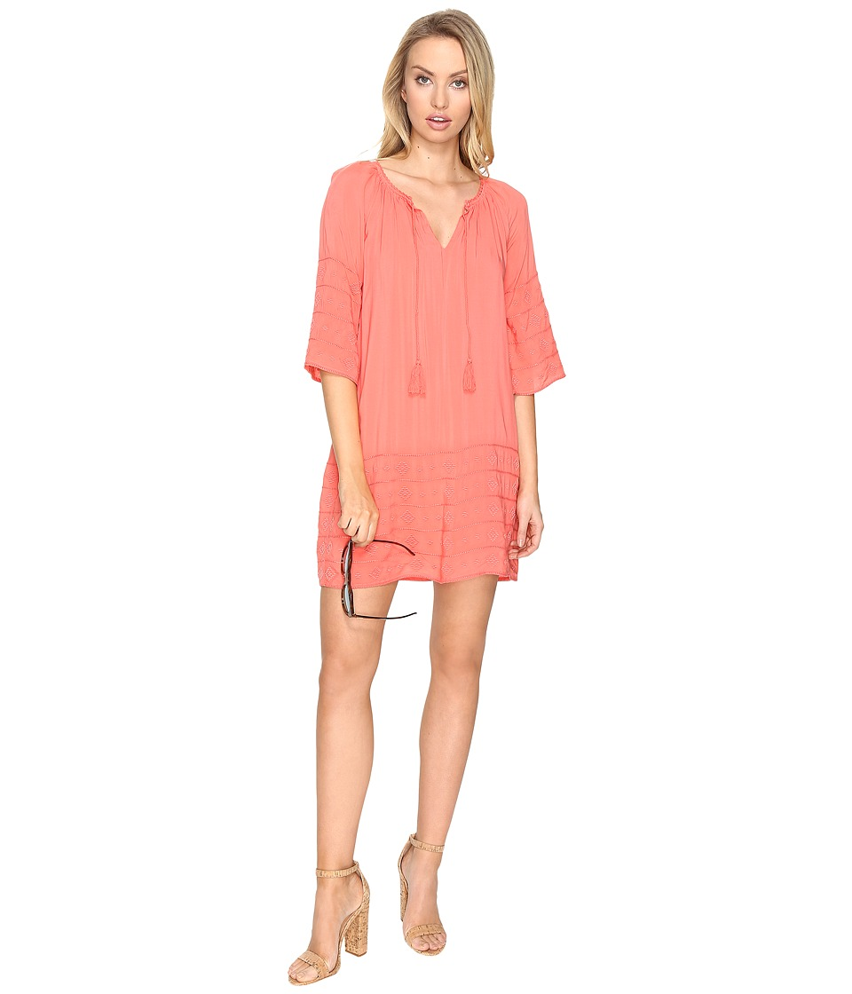 BB Dakota - Kam Embroidered Shift Dress (Cantaloupe) Women's Dress
