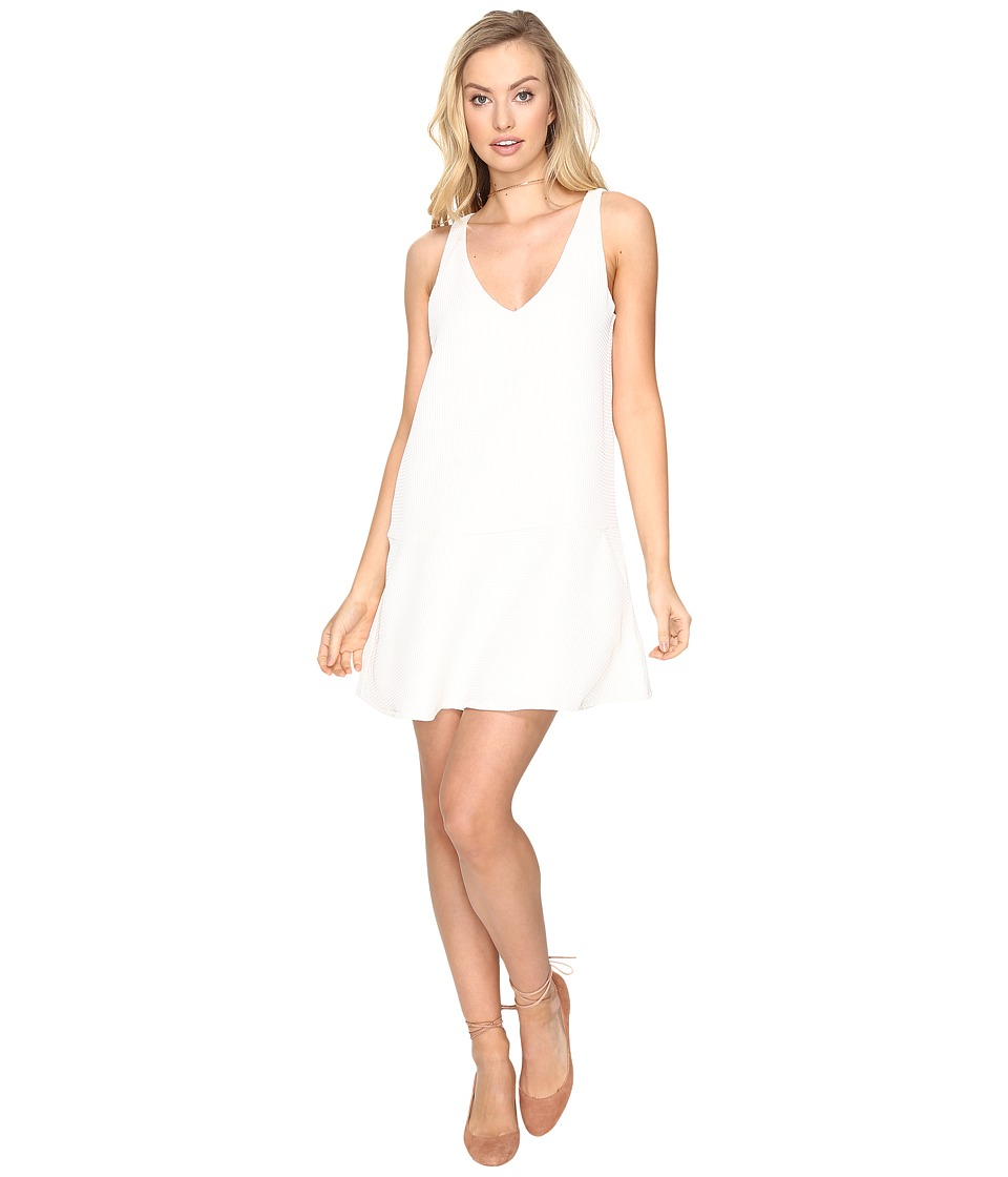 BB Dakota Jarvis Textured Shift Dress (Dirty White) Women