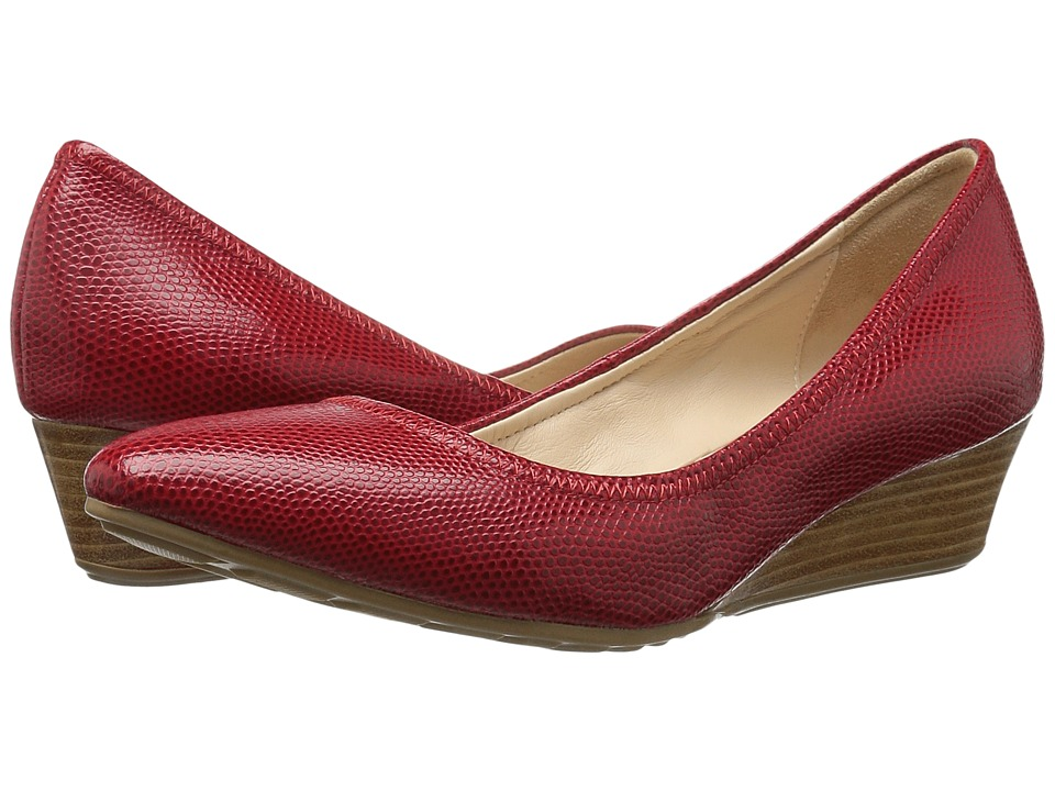 Cole Haan - Tali Luxe Wedge 40 (Red/Molten Lava Lizard) Women's Slip-on Dress Shoes
