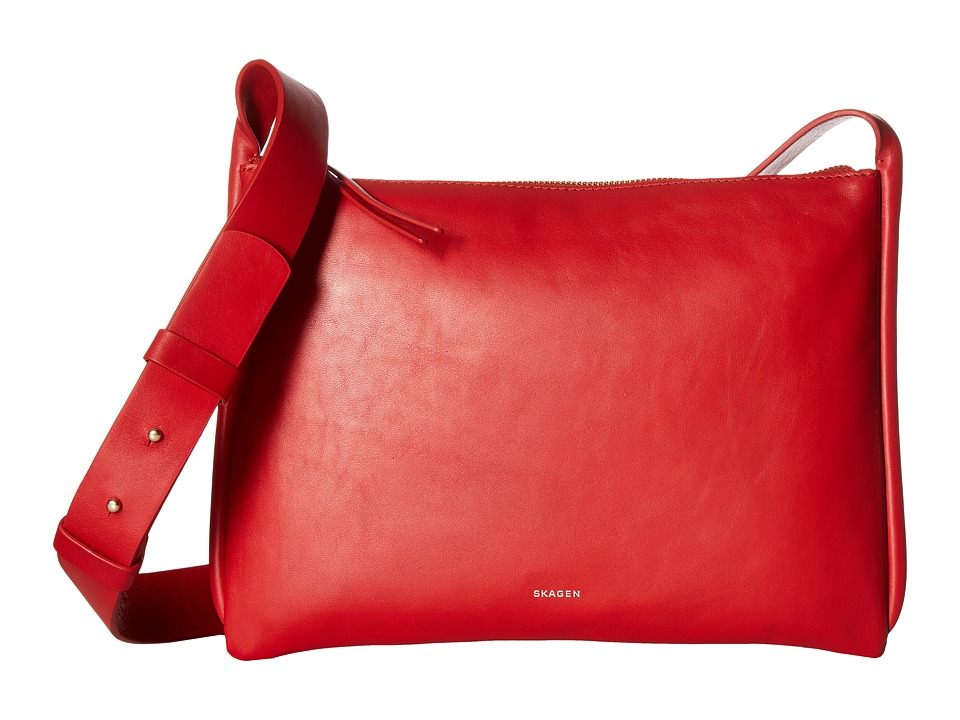 Skagen - Anesa Slim Crossbody (Red) Cross Body Handbags