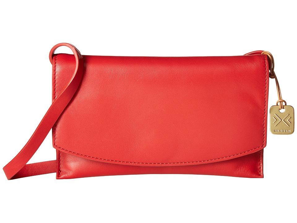 Skagen - Charlotta Crossbody (Red) Cross Body Handbags