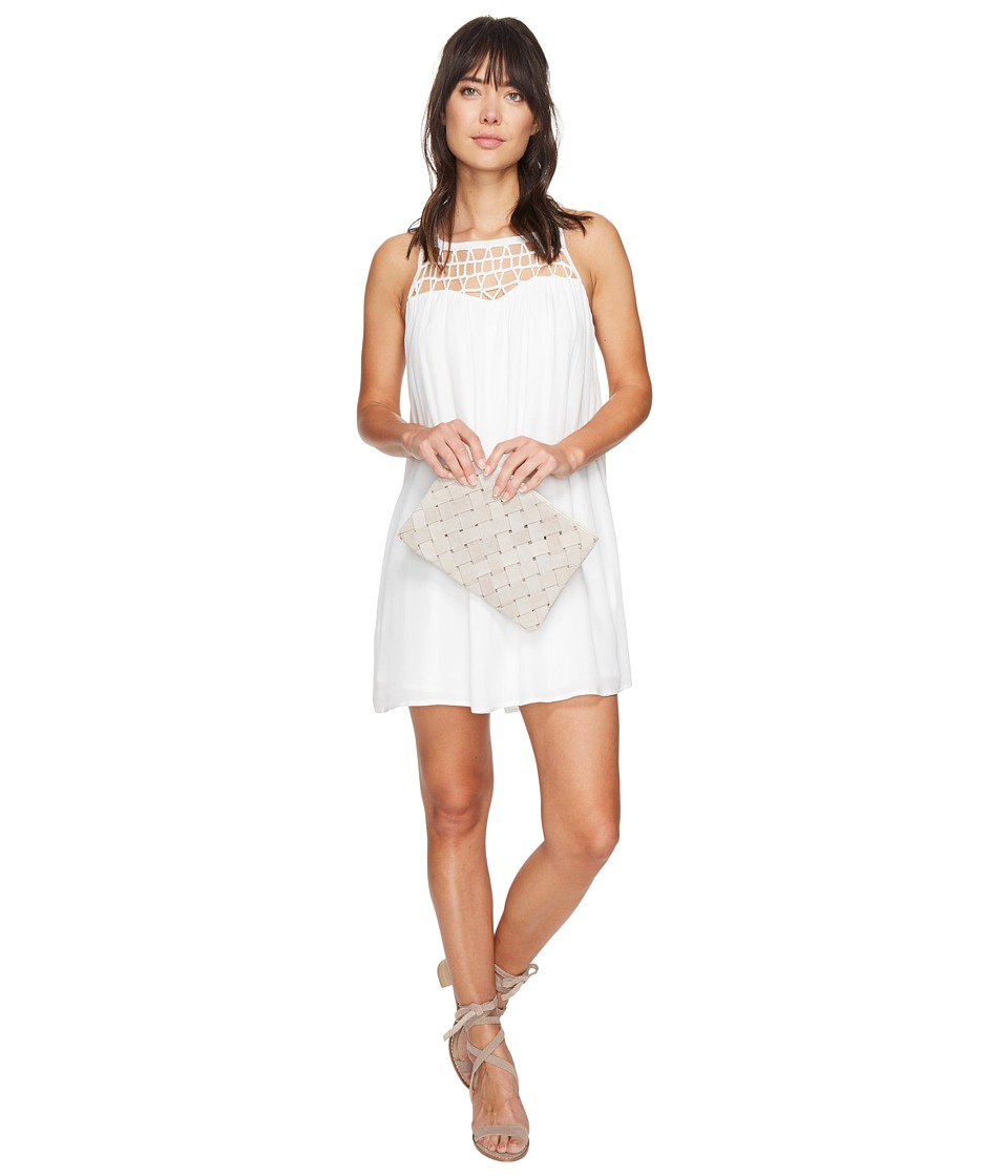 BB Dakota - Astor Crochet Yoke Shift Dress (Ivory) Women's Dress