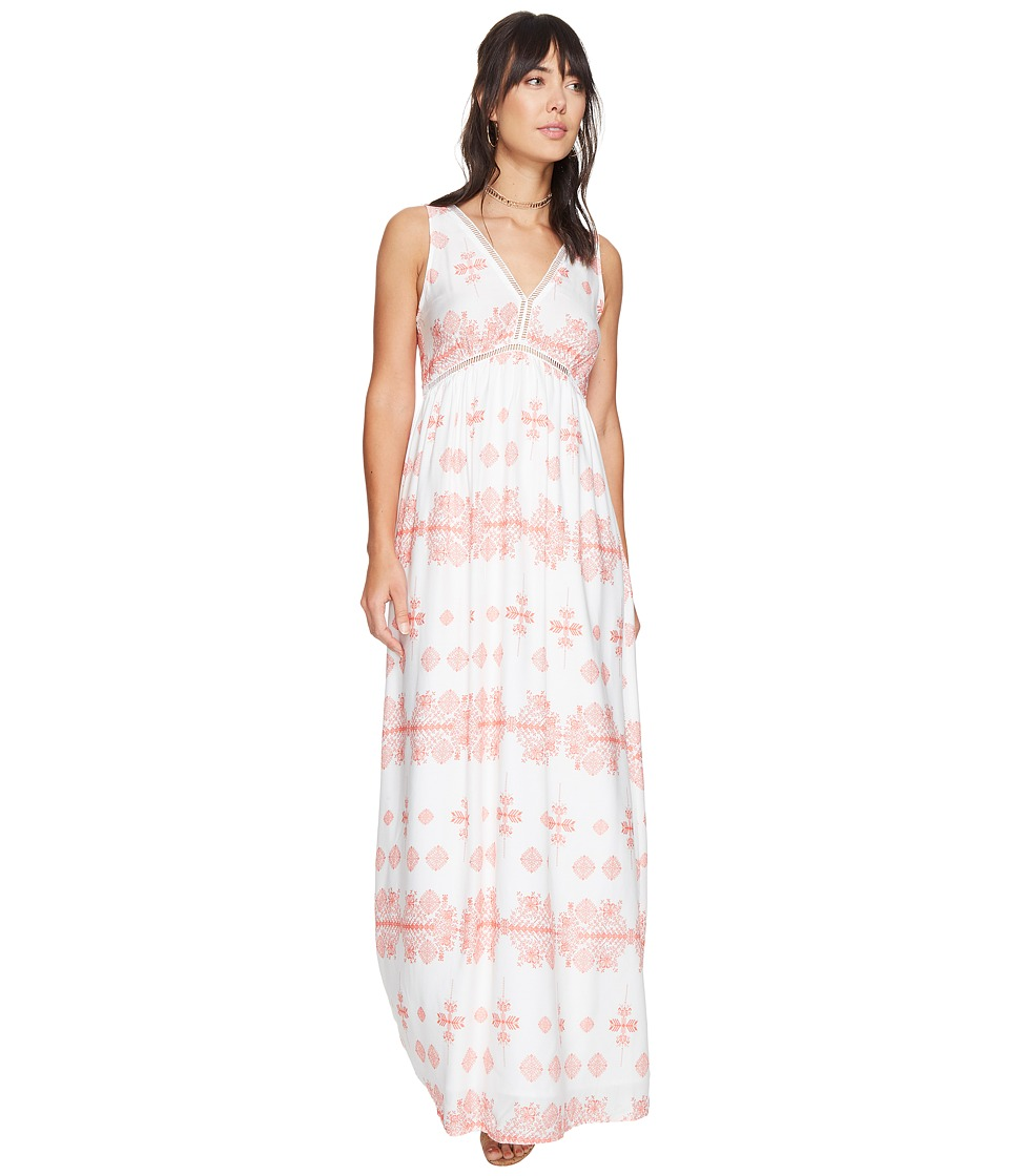 BB Dakota - Havanah Printed Maxi Dress (Cantaloupe) Women's Dress