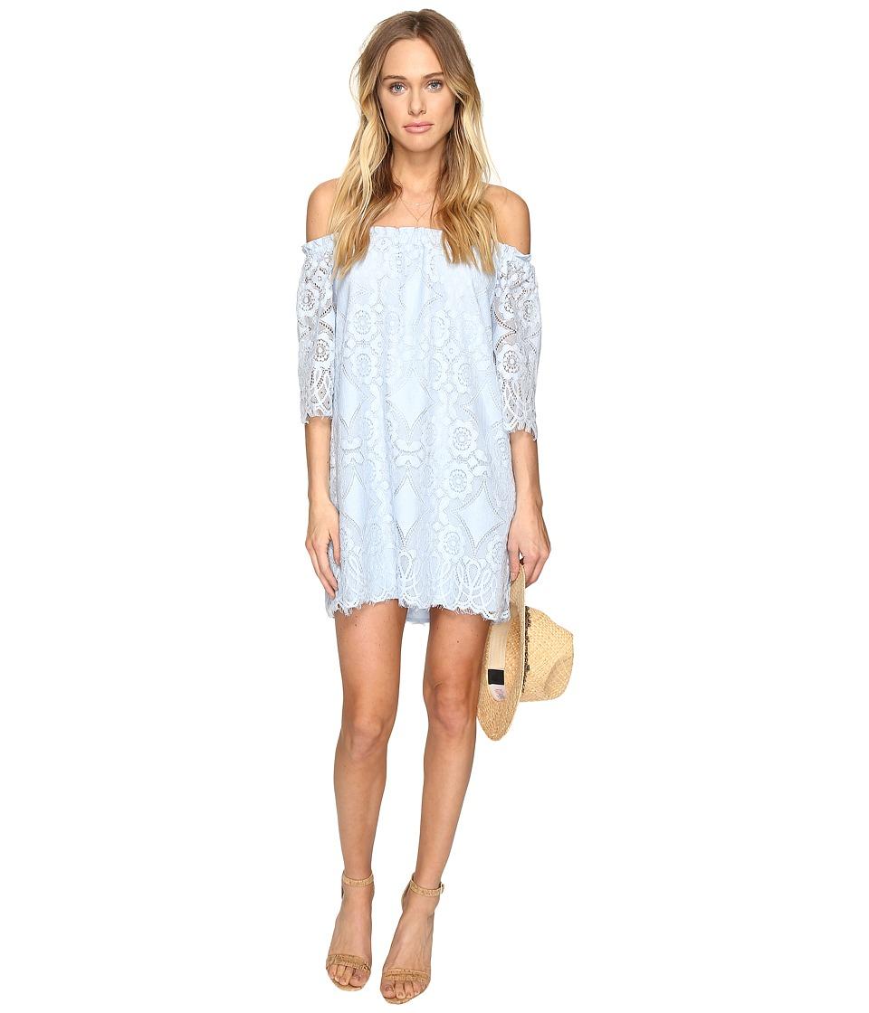 BB Dakota - Halden Off the Shoulder Lace Dress (Cyanide) Women's Dress
