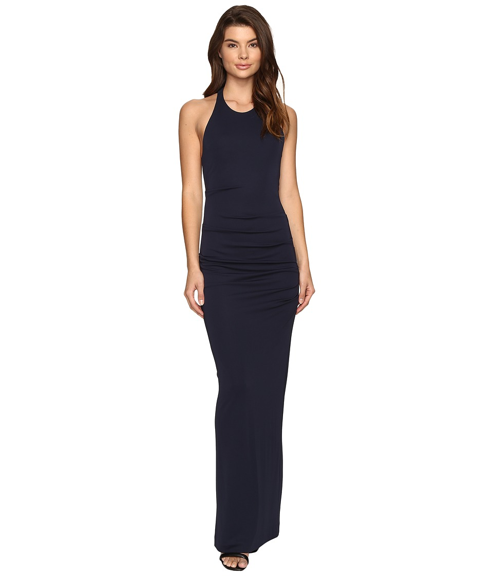 Nicole Miller Matte Jersey Dress (Midnight) Women's Dress