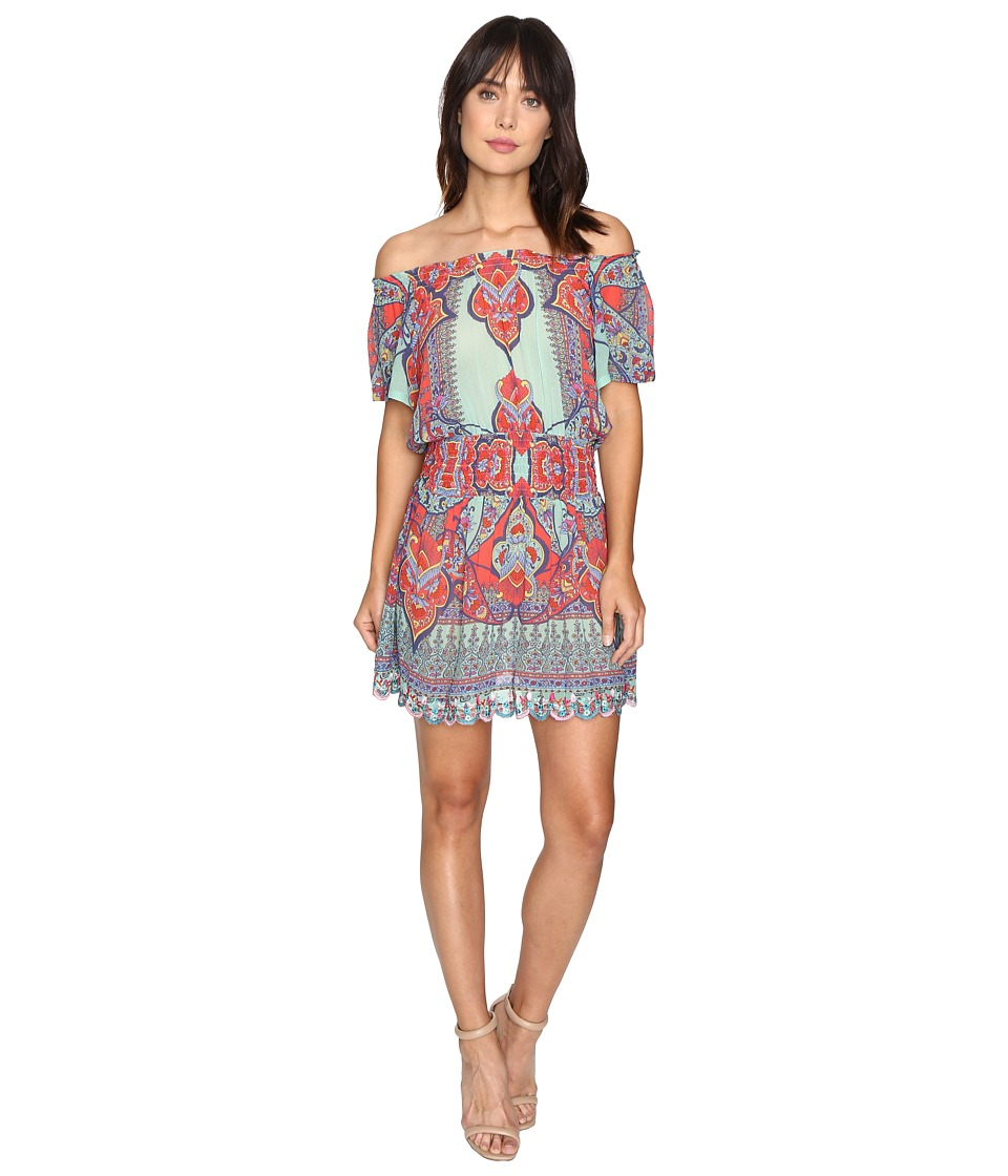 Nicole Miller La Plage By Nicole Miller Beach Fleur Off the Shoulder Dress Cover-Up (Multi) Women