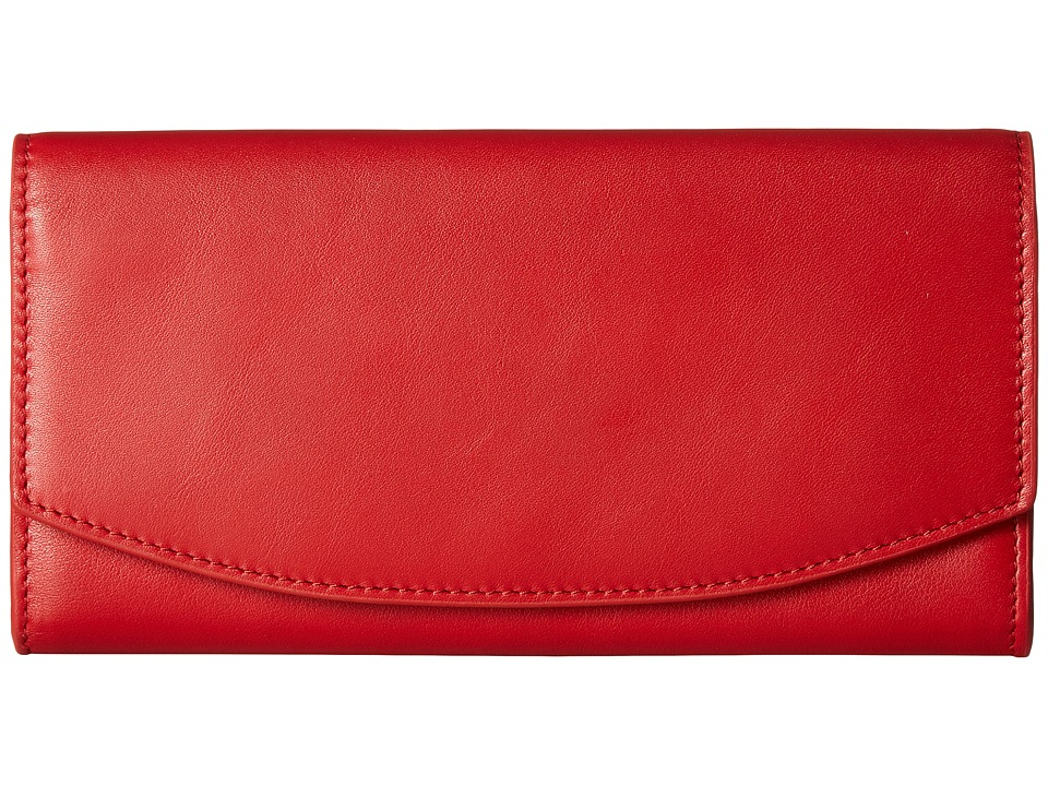 Skagen - Dinesen Flap Wallet (Red) Wallet Handbags