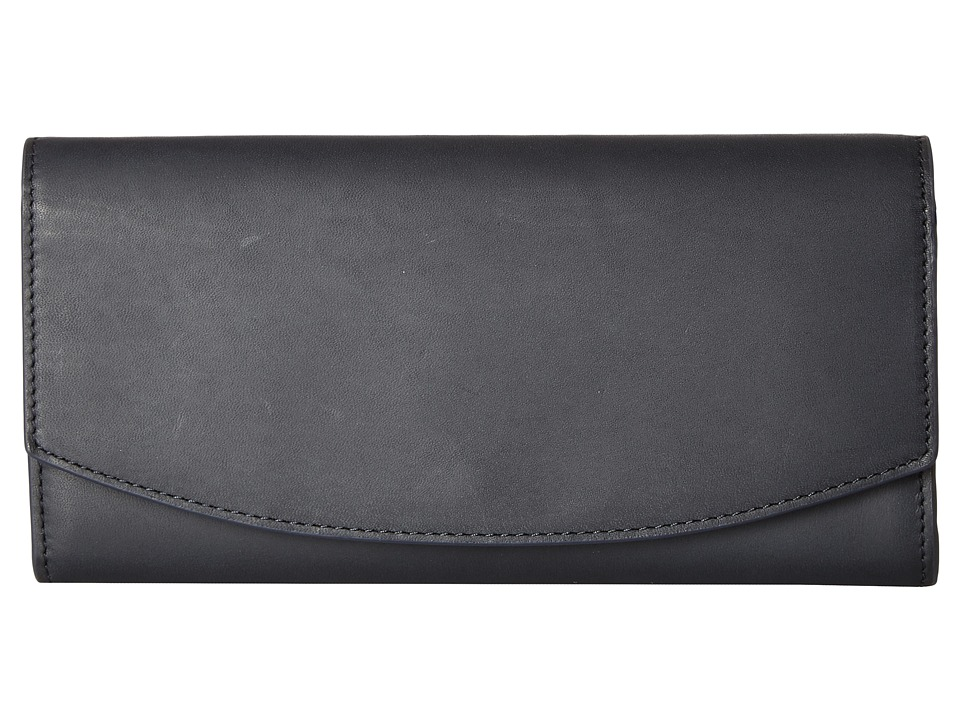 Skagen - Dinesen Flap Wallet (Ink) Wallet Handbags