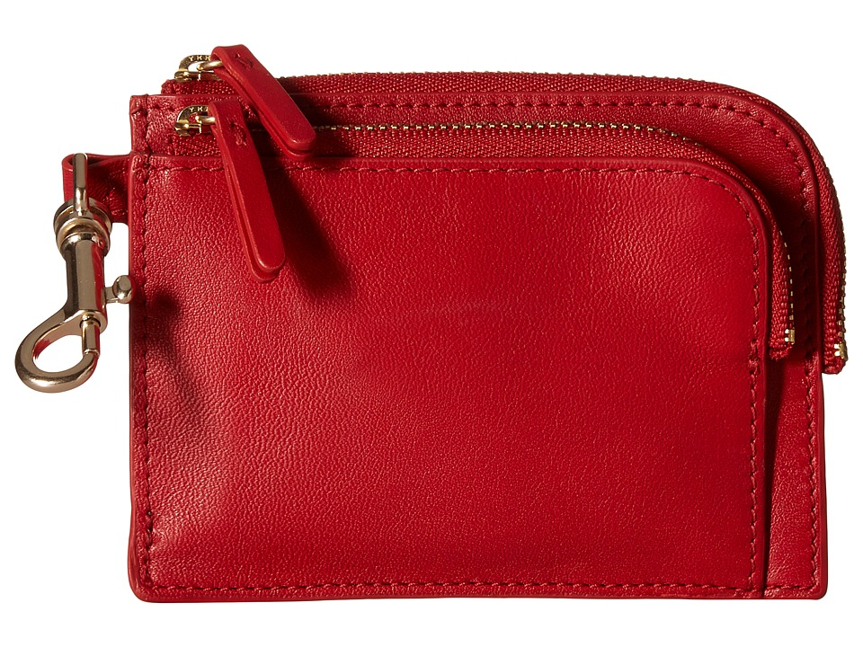 Skagen - Double Zip Charm Wallet (Red) Wallet Handbags