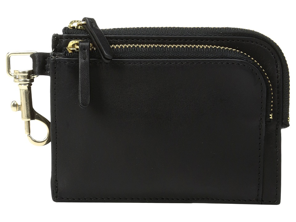 Skagen - Double Zip Charm Wallet (Black) Wallet Handbags
