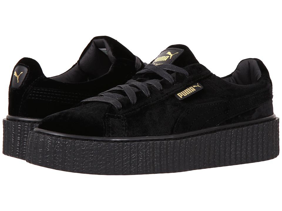 PUMA - Creeper Velvet (Puma Black/Puma Black) Women's Shoes