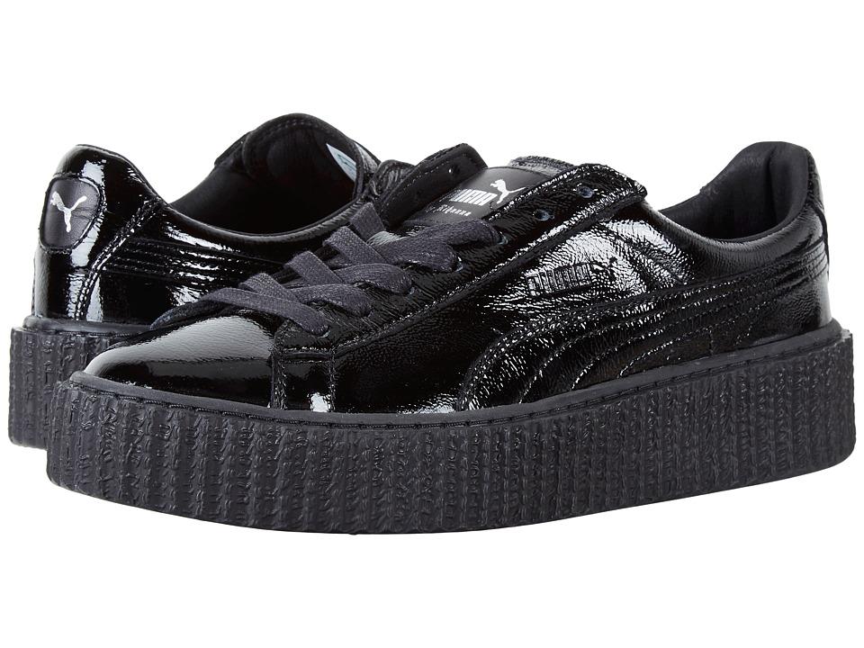 PUMA - Creeper Wrinkled Patent (Puma Black/Puma Black) Women's Shoes
