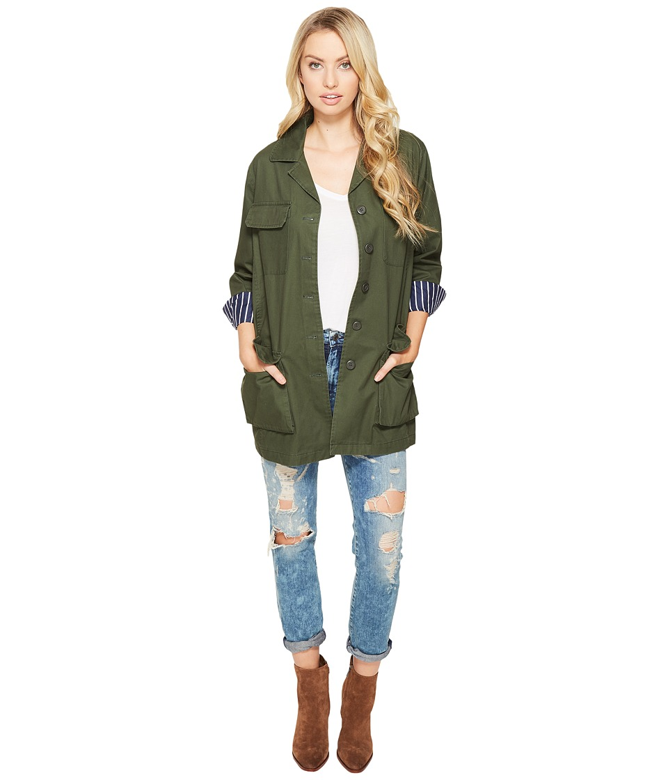 BB Dakota - Kierson Army Jacket (Army Green) Women's Coat