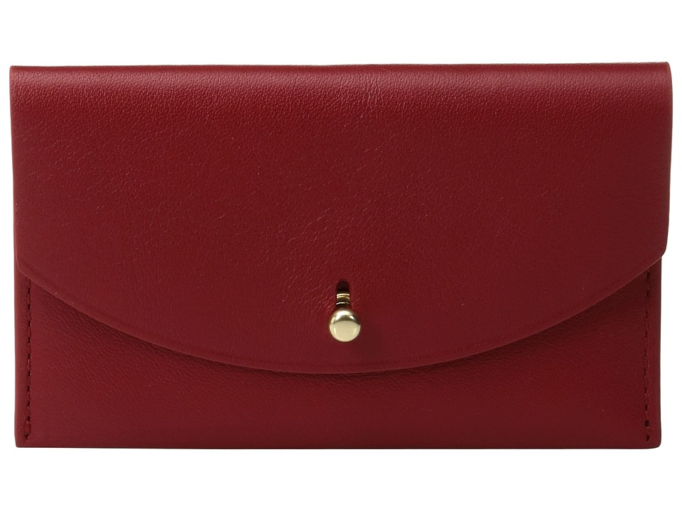 Skagen - Flap Card Case (Red) Credit card Wallet