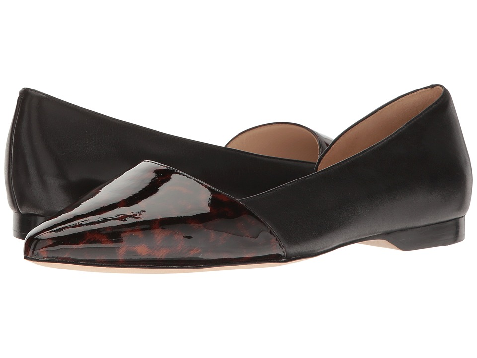 Cole Haan Amalia Skimmer (Brown/Tortoise/Black Patent) Women's Flat Shoes