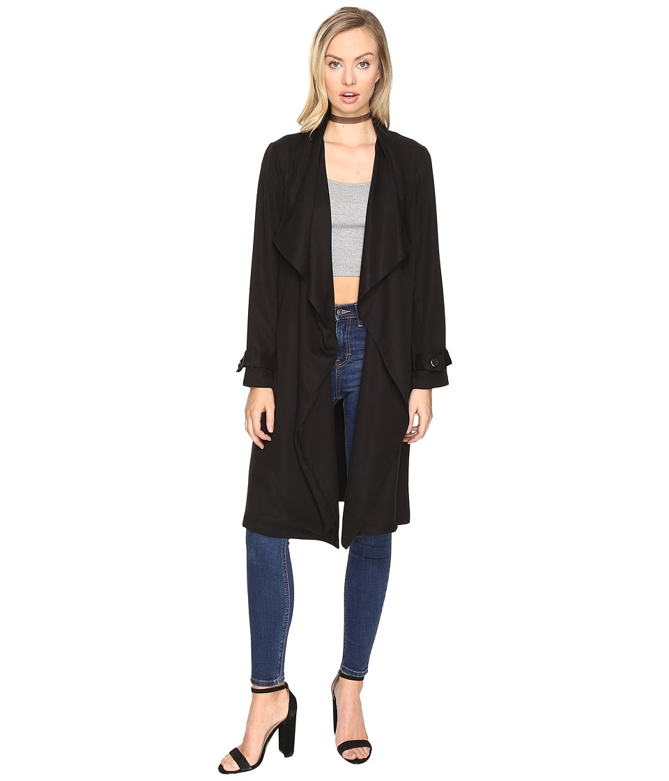 BB Dakota - Barkley Trench Coat (Black) Women's Coat