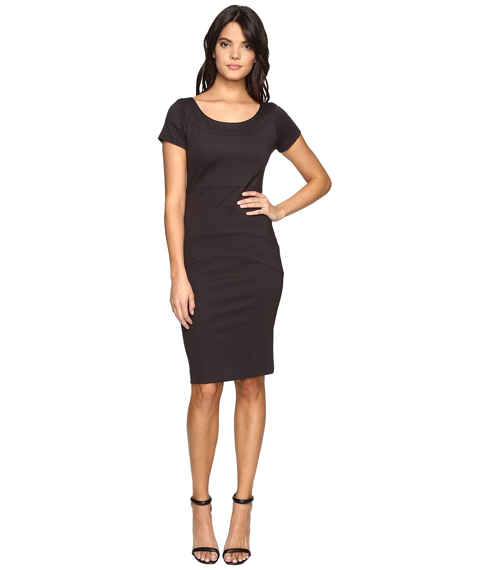 Nicole Miller Karina Ponte Dress (Dark Charcoal) Women