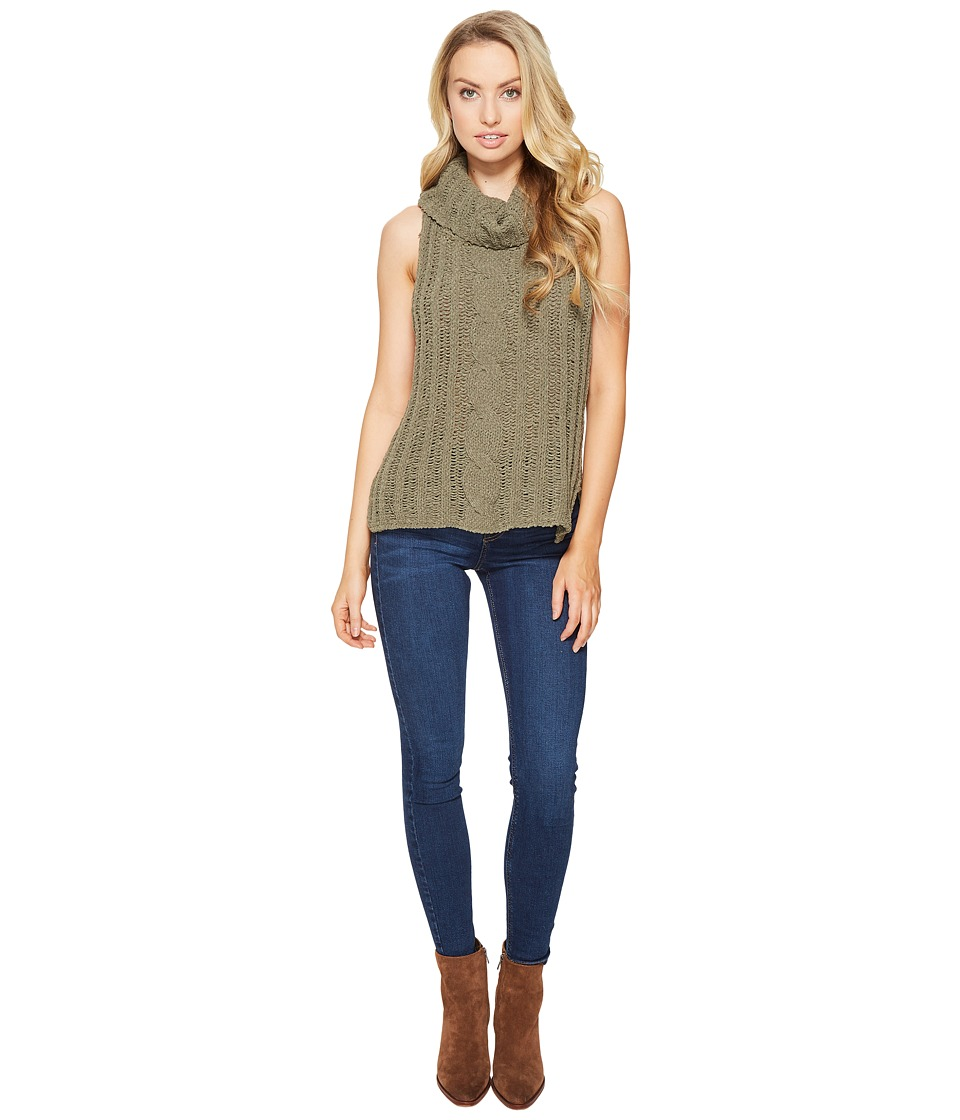 BB Dakota - Tenbrook Turtleneck Cable Sweater (Sage) Women's Sweater