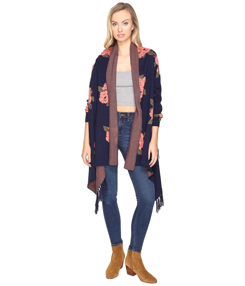 BB Dakota - Malone Floral Cardigan (Navy) Women's Sweater