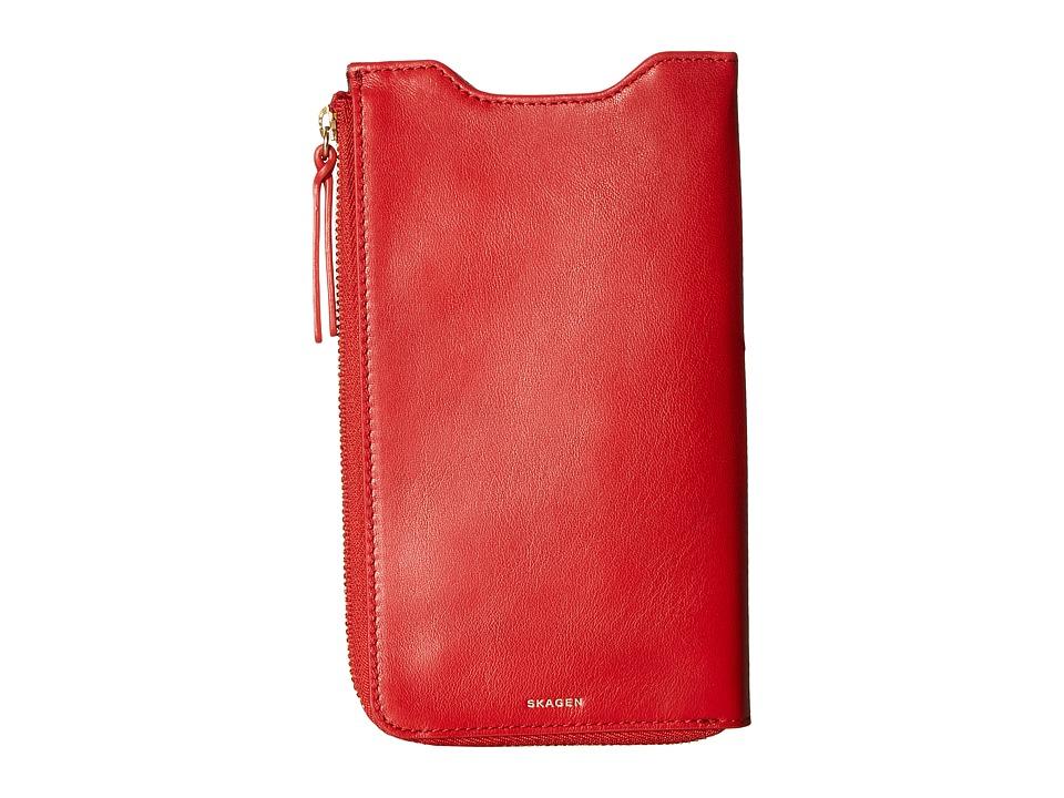 Skagen - Lilli iPhone 6/Galaxy Sleeve Wallet (Red) Wallet Handbags