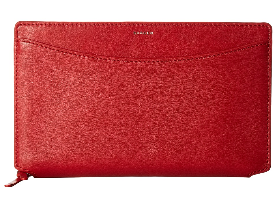 Skagen - Ryle Wallet (Red) Wallet Handbags