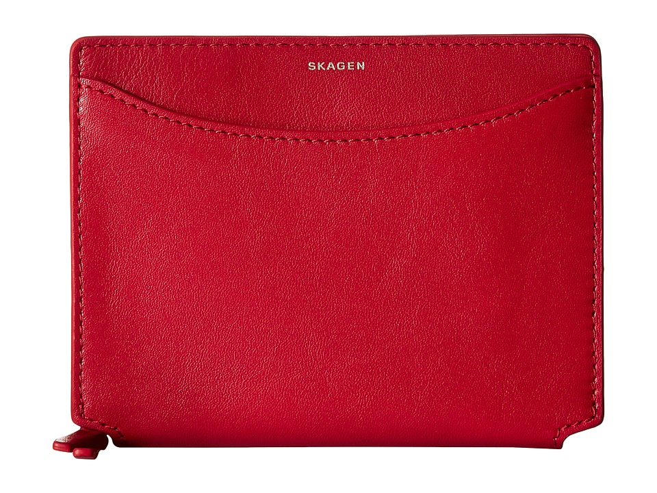 Skagen - Ryle Medium Zip Wallet (Red) Wallet Handbags