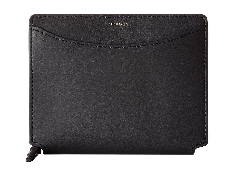 Skagen - Ryle Medium Zip Wallet (Ink) Wallet Handbags