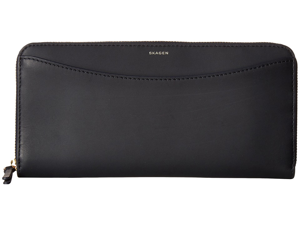 Skagen - Hanne Zip Wallet (Ink) Wallet Handbags