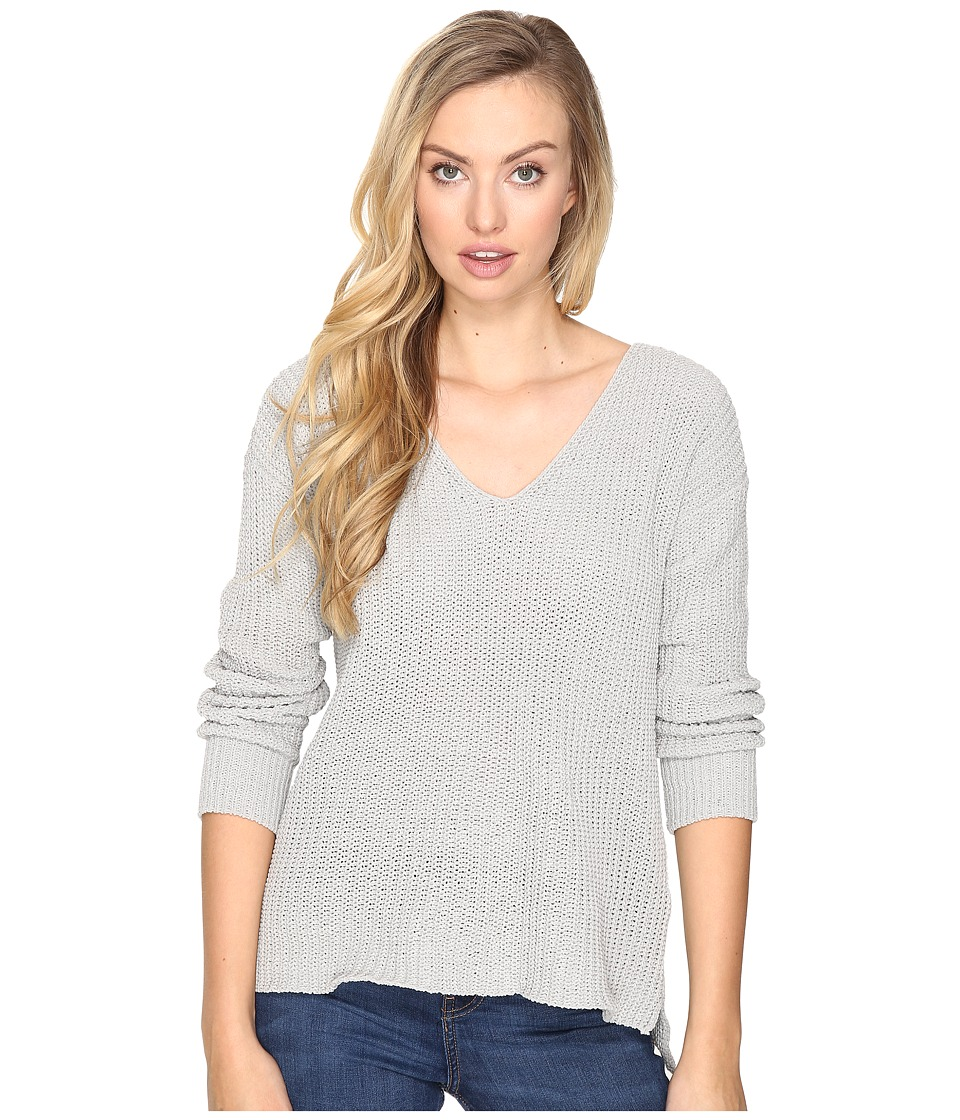BB Dakota - Zona Soft V-Neck Sweater (Grey) Women's Sweater