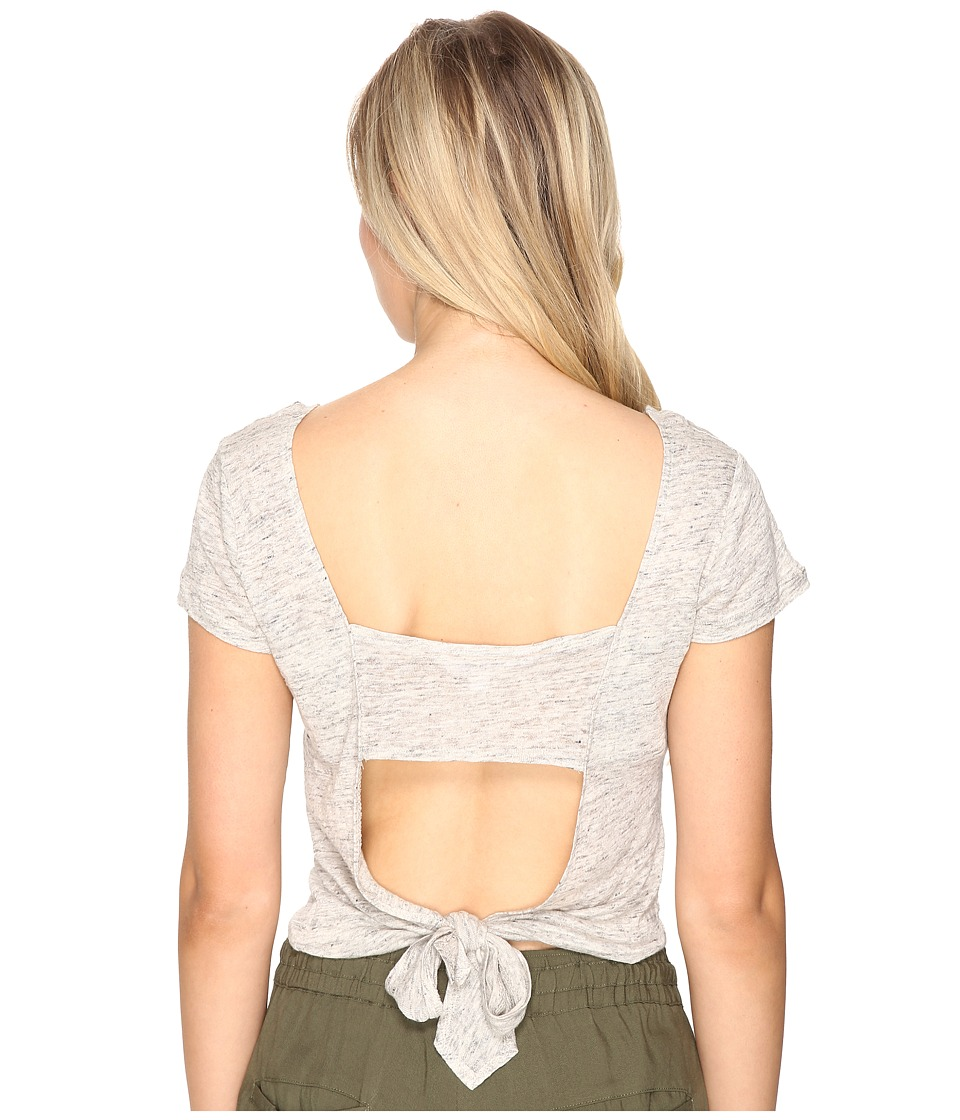 BB Dakota - Clarin Open Back Tee Shirt (Light Heather Grey) Women's T Shirt