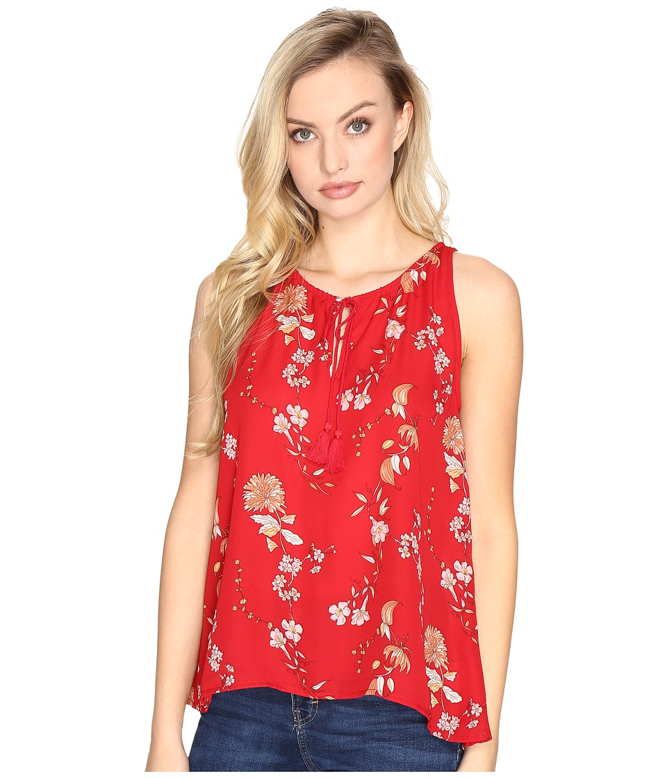 BB Dakota - Alton Front Tie Tank Top (Red) Women's Sleeveless