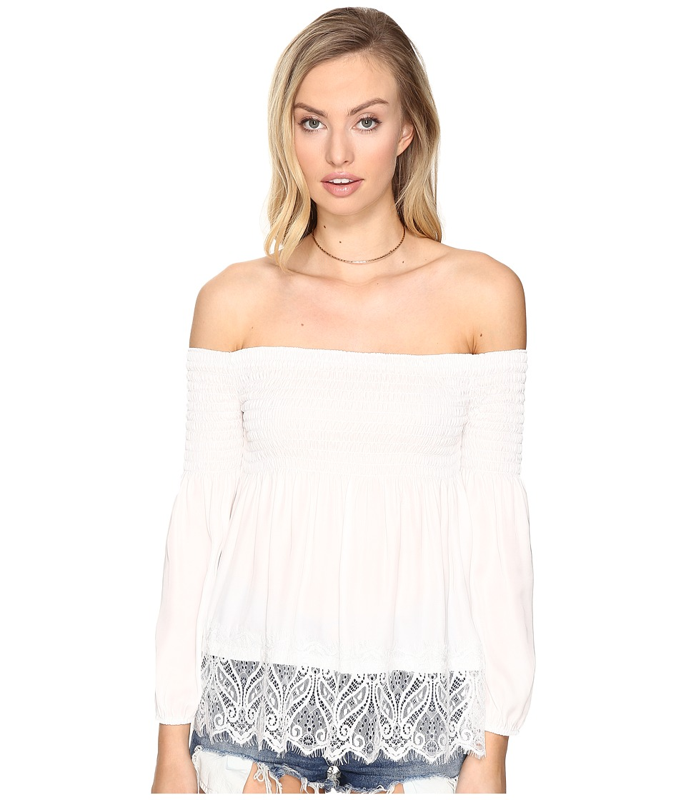 BB Dakota - Locklear Off the Shoulder Top (Ivory) Women's Clothing