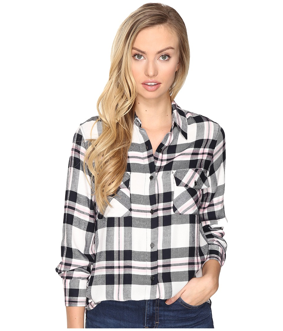 BB Dakota - Forest Flannel Top (Ivory) Women's Clothing