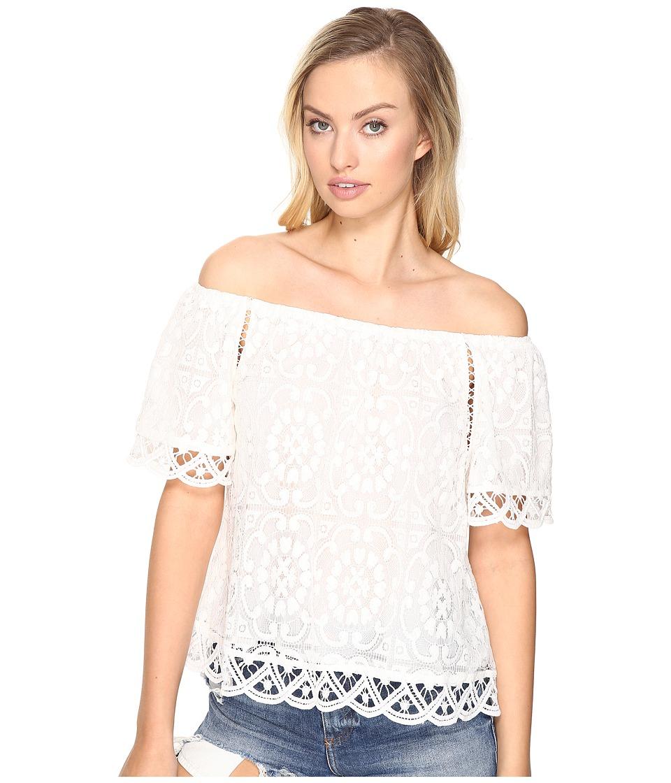 BB Dakota - Curren Lace Off the Shoulder Top (Ivory) Women's Clothing