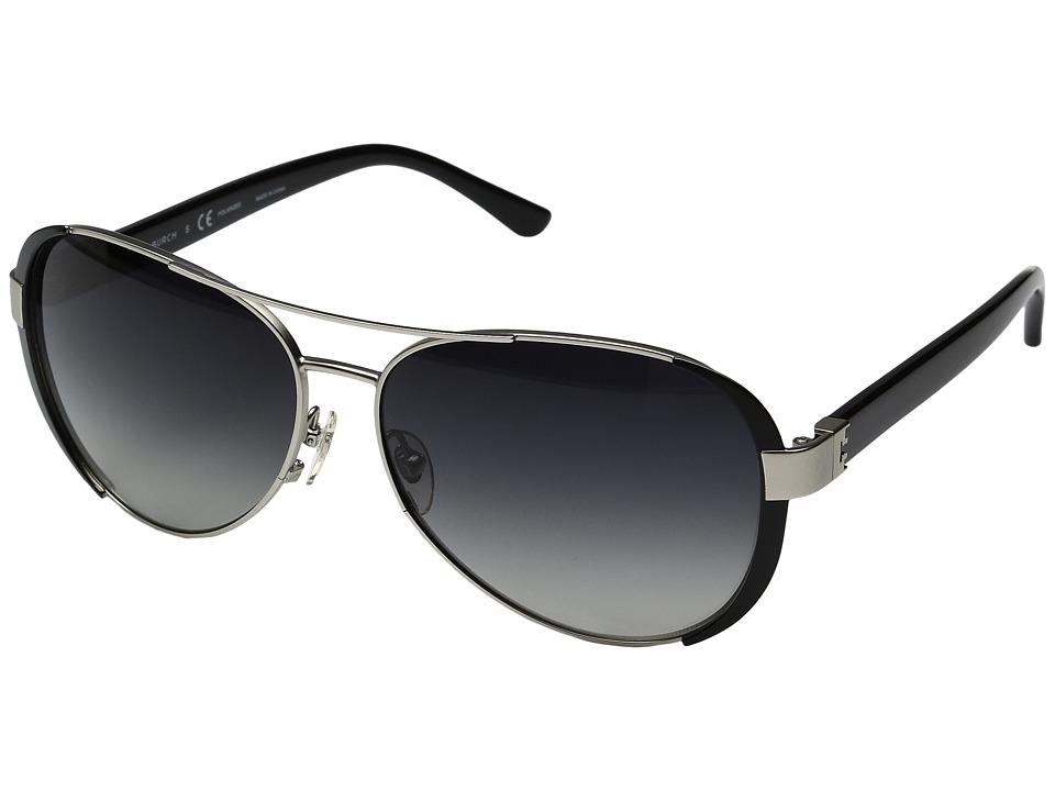 Tory Burch - 0TY6052 (Silver/Polarized Grey Gradient) Fashion Sunglasses