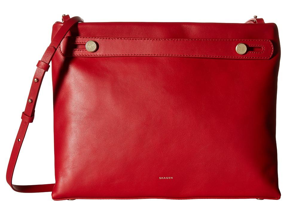 Skagen - Mikkeline Satchel (Red) Satchel Handbags