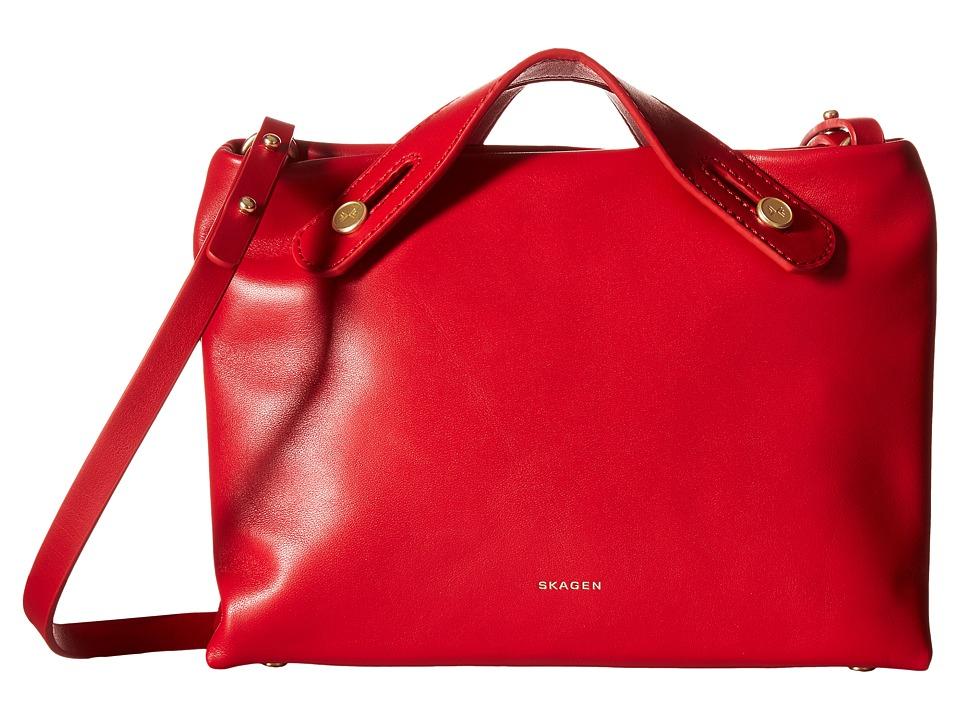 Skagen - Mini Mikkeline Satchel (Red) Cross Body Handbags