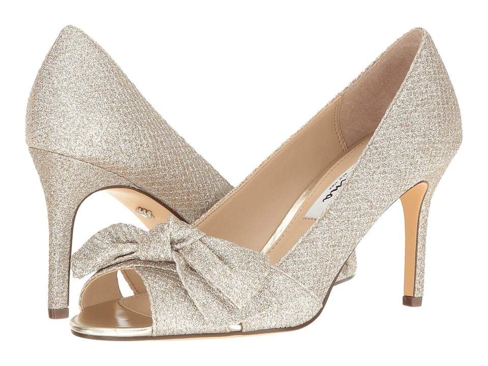 Nina Forbet (Soft Platino Diamond Glitter Mesh) High Heels