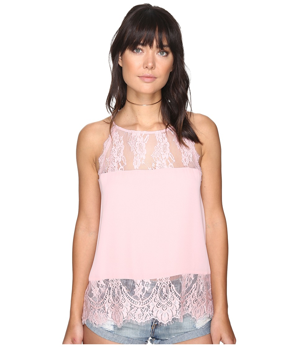BB Dakota - Yasmine Lace Detailed Tank Top (Rose) Women's Sleeveless