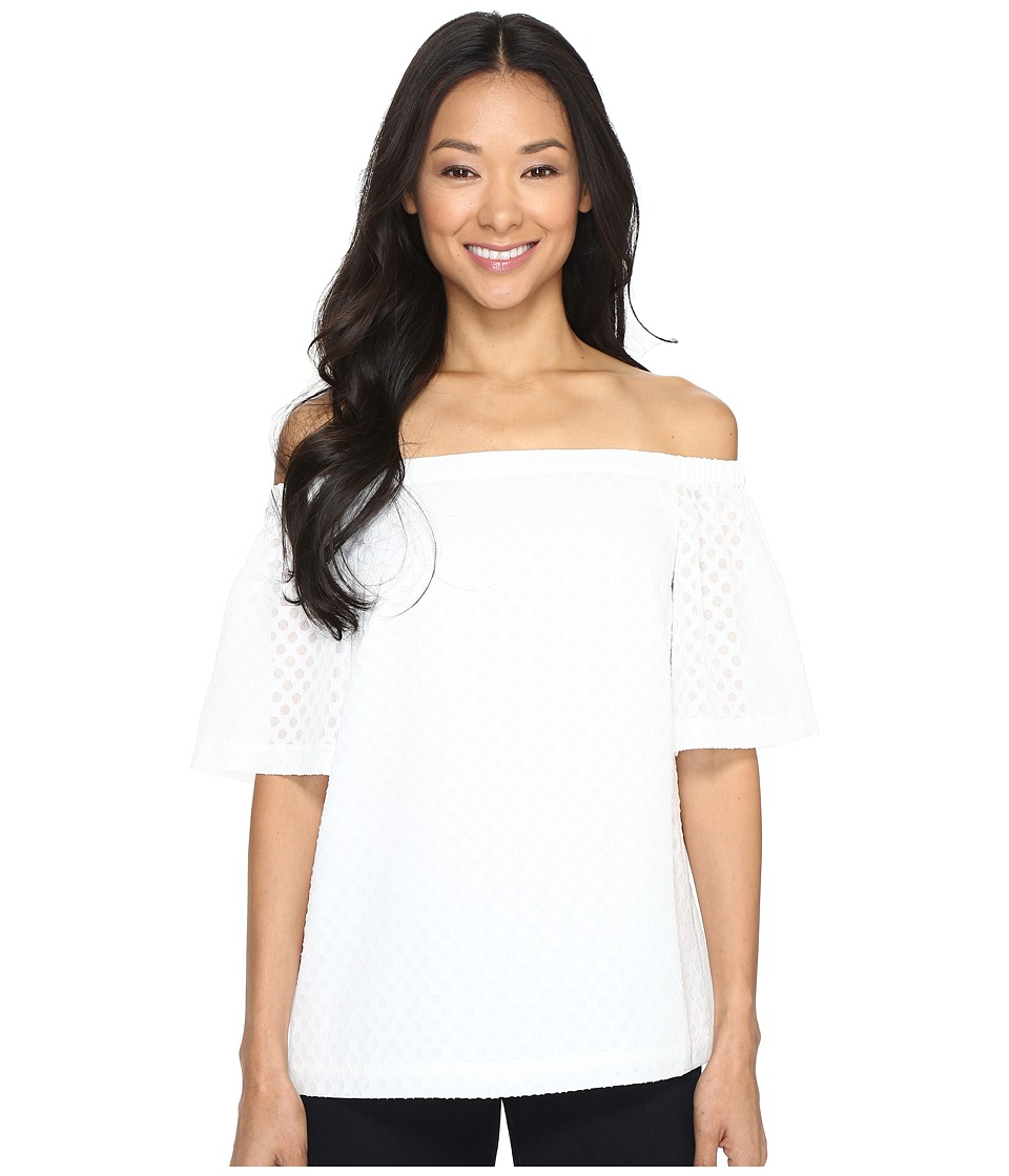 Calvin Klein - Off the Shoulder Top (Soft White) Women's Clothing