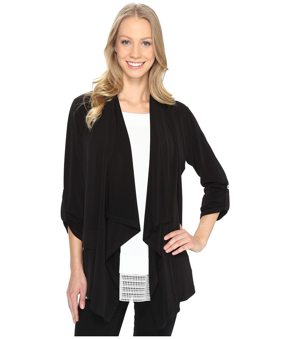 Calvin Klein - Open Flyaway Soft Jacket (Black) Women's Coat