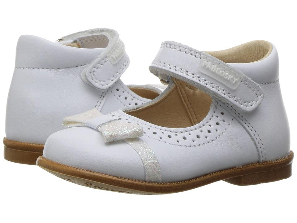 Pablosky Kids - 0035 (Infant/Toddler) (White) Girl's Shoes