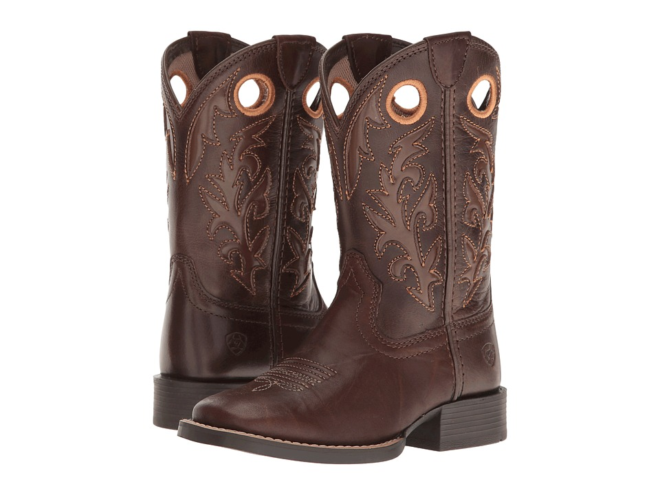 Ariat Kids - Barstow (Toddler/Little Kid/Big Kid) (Brown Crinkle/Rich Chocolate) Cowboy Boots