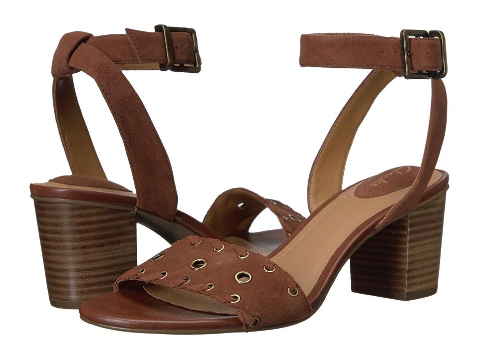 Clarks - Ralene Sheen (Dark Tan) Women's Shoes