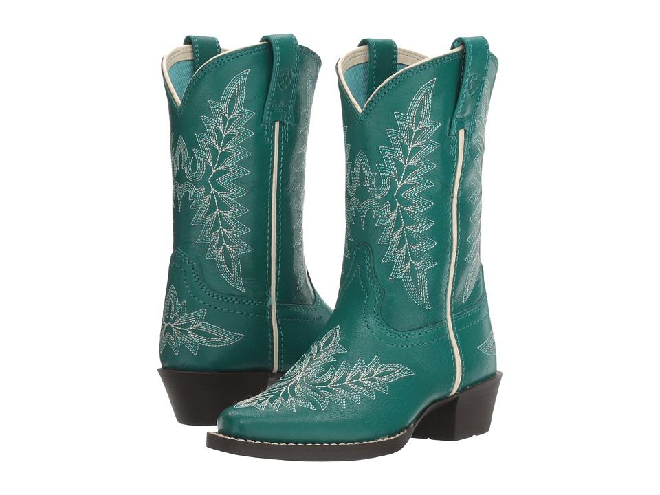 Image of Ariat Kids - Brooklyn (Toddler/Little Kid/Big Kid) (Mermaid Blue) Cowboy Boots