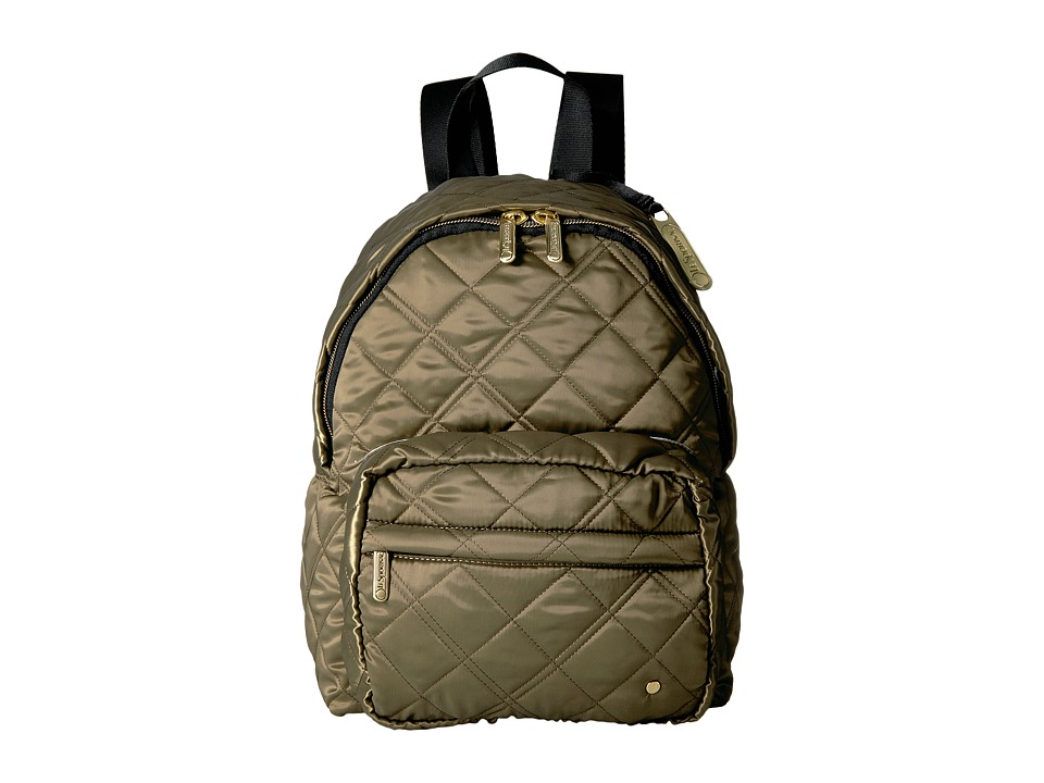 LeSportsac - City Piccadilly Backpack (Metallic Bronze Quilted) Backpack Bags