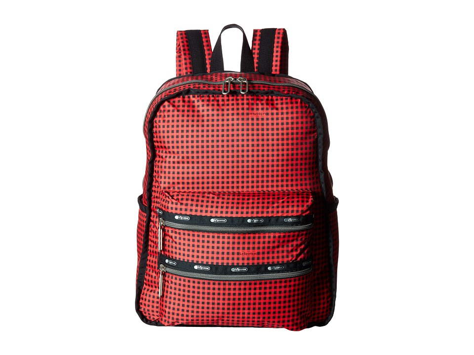 LeSportsac - Functional Backpack (Happy Check) Backpack Bags