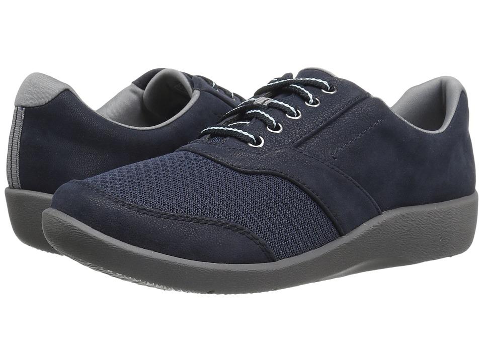 Clarks - Sillian Emma (Navy) Women's Shoes