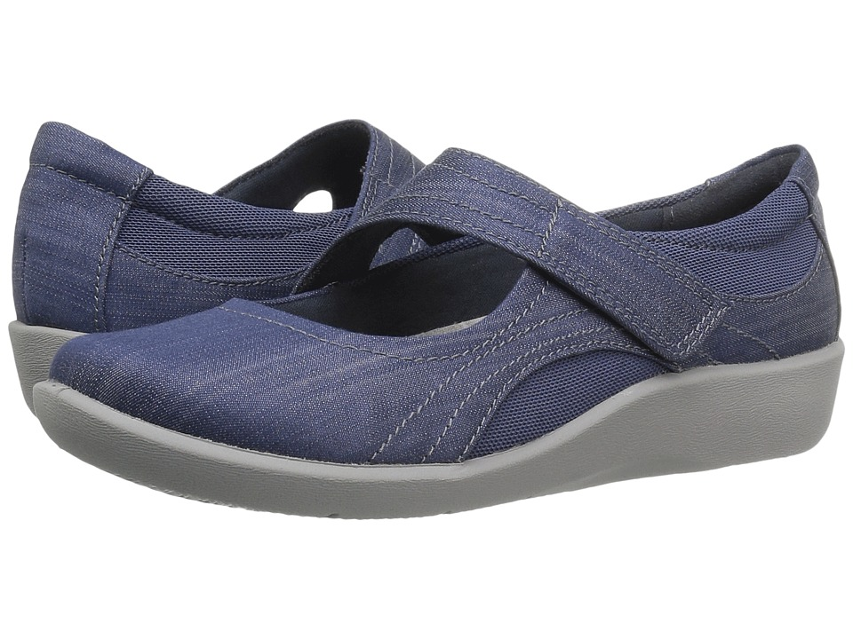 Clarks - Sillian Bella (Blue Denim) Women's Shoes